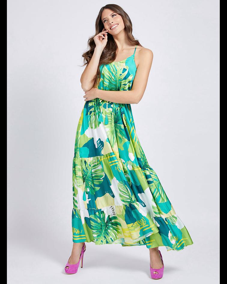 Vestido Comprido Floral Angelica - Guess