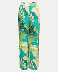 Calças com Print Folhas Palazzo - Guess