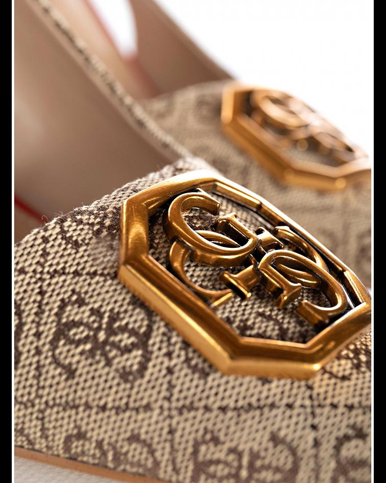 Stiletto Aberto Atrás Logo - Guess