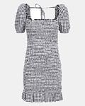 Vestido Vichy Aida Preto - Guess