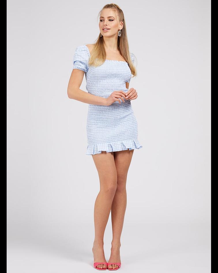 Vestido Vichy Aida Azul - Guess