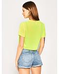 T-shirt Curta Amarelo Neon - Guess