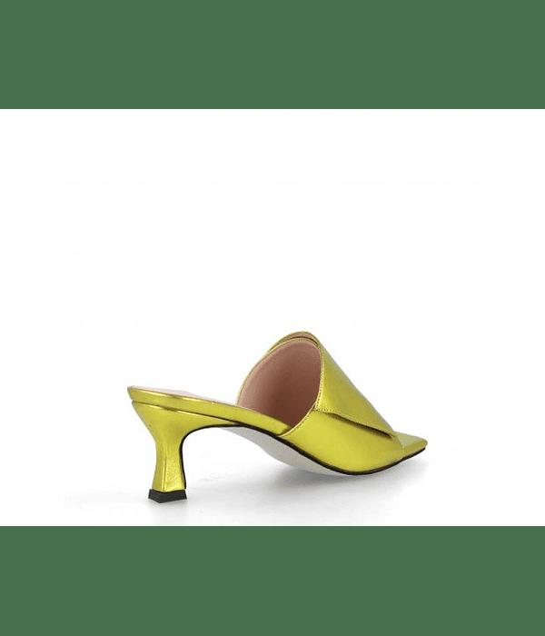 Mule Metalizada Borso Amarelo - Menbur