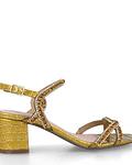 Sandália Croco com Strass - Menbur