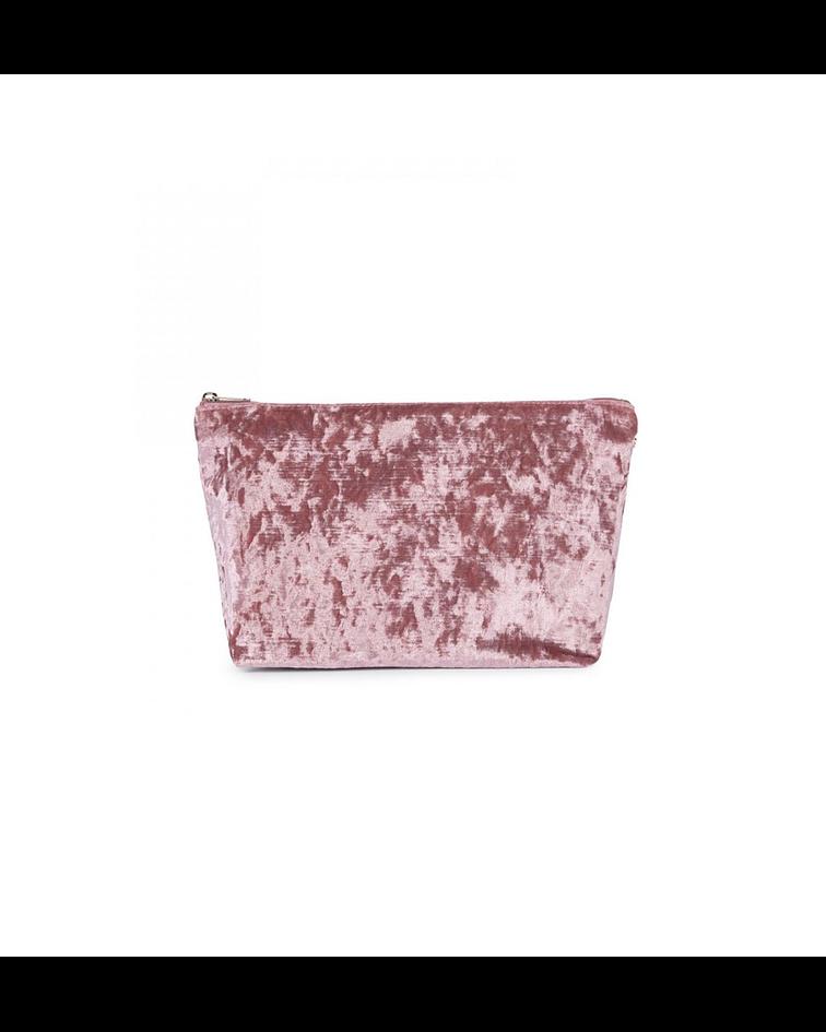 Bolsa Pequena Kaos Shock Veludo Rosa - Tous