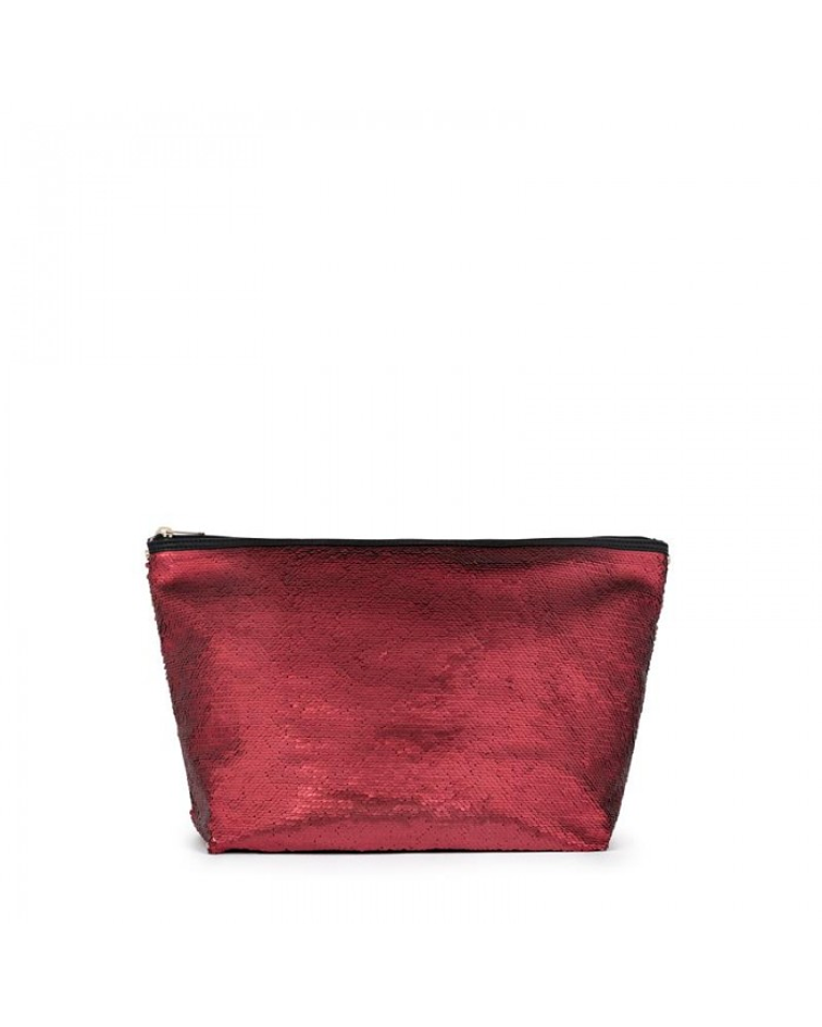 Bolsa Pequena Kaos Shock Sequins Bordeaux - Tous