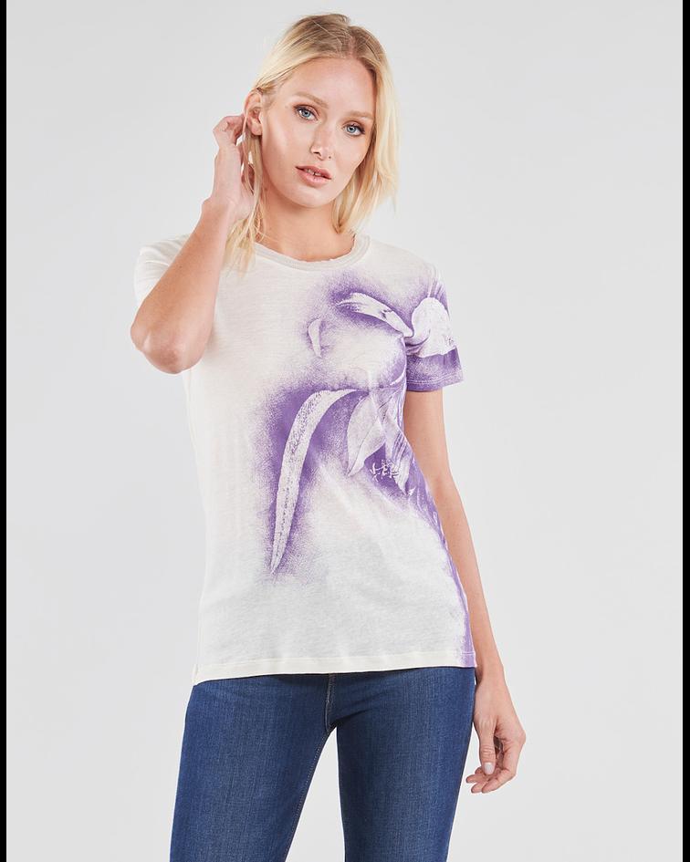 T-shirt com Flores Iris - Guess