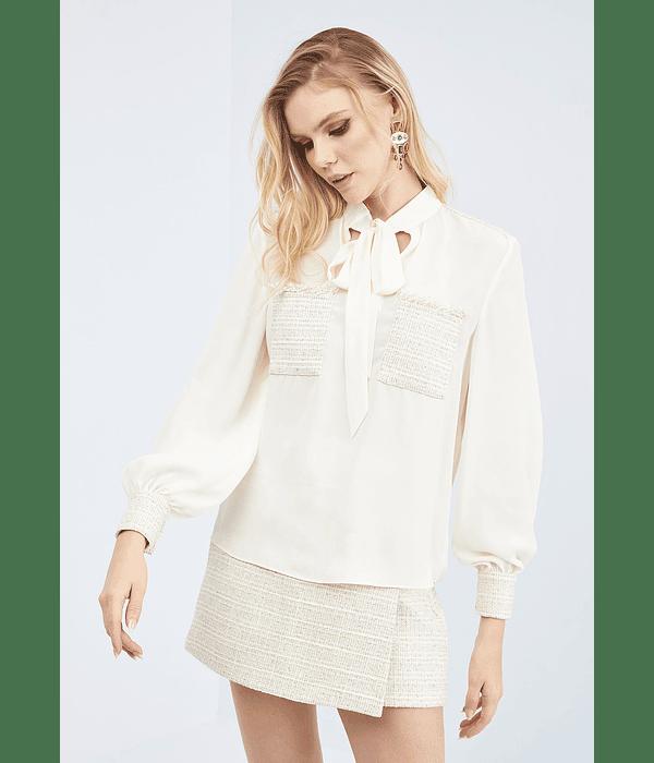 Camisa com manga e laçada - Lança Perfume