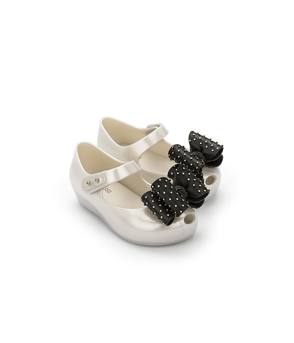 Sapato Criança com Laço Sweet VII Branco - Mini Melissa