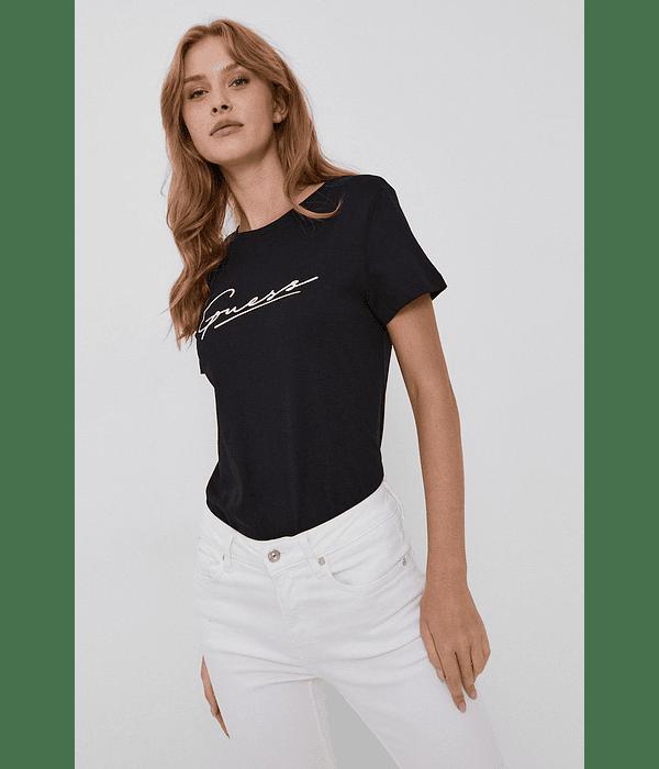 T-shirt com Logo Lettering Preto - Guess