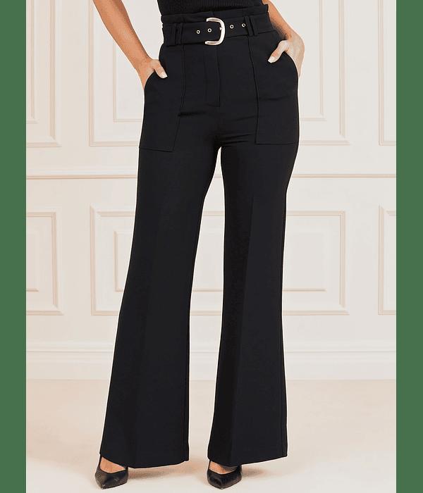 Calças Wixson Wide Leg com Cinto Preto - Guess Marciano