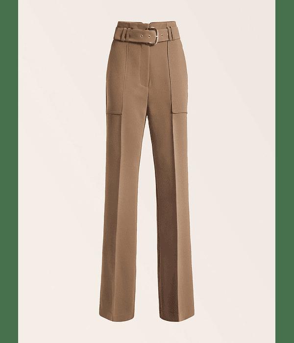 Calças Wixson Wide Leg com Cinto Taupe - Guess Marciano