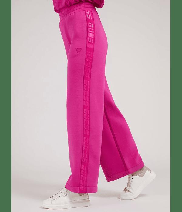 Calças Pantalonas em Neoprene Allie Rosa Choque - Guess