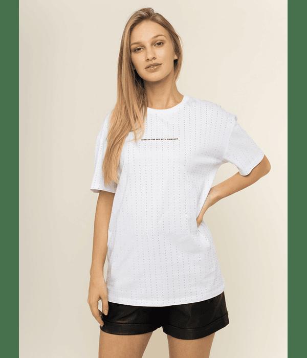T-shirt com Strass - Guess
