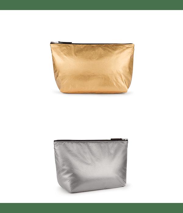 Bolsa Pequena Reversível Metalizada Kaos Shock - Tous