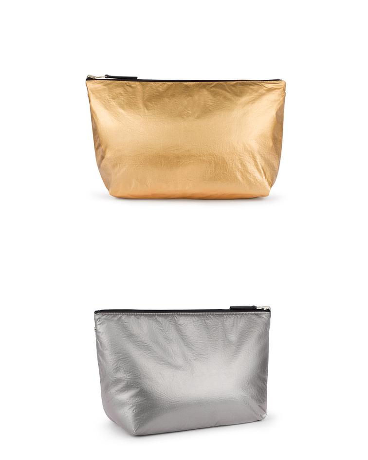 Bolsa Pequena Reversível Metalizada Dourado/Prata Kaos Shock - Tous