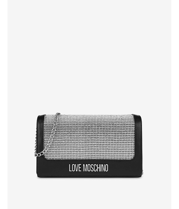 Clutch Com Brilhantes - Love Moschino