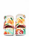 Sandália de Salto Largo Floral  (Mattix) - Jeffrey Campbell