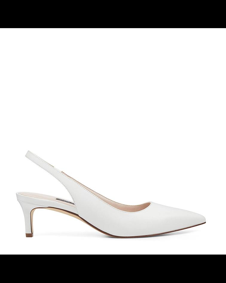 Sapato Salto Baixo Feliks - Branco