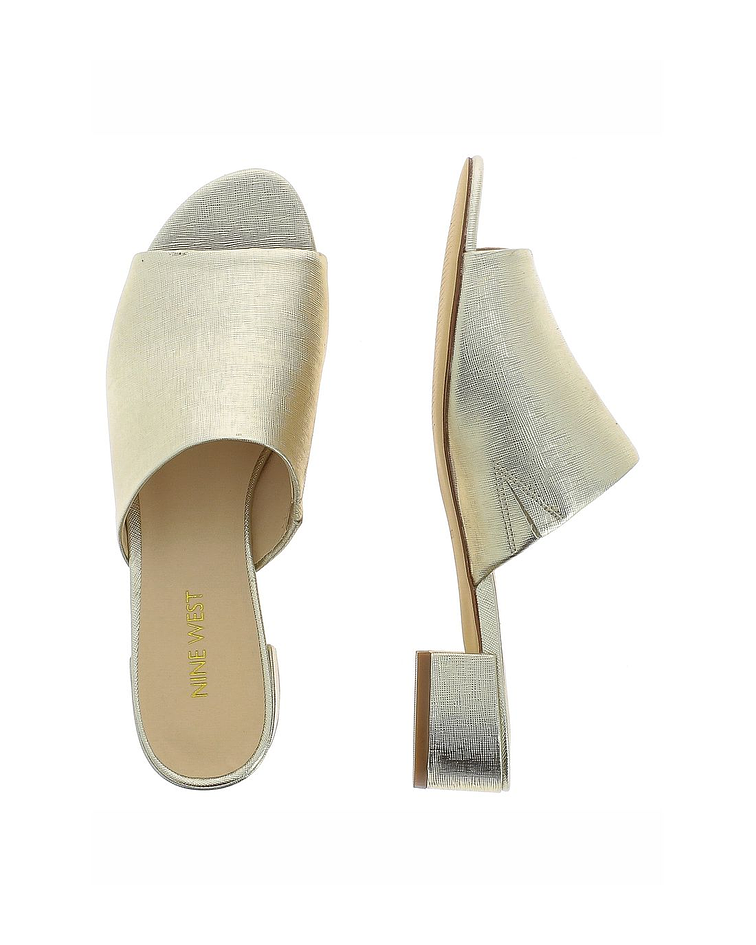 Mule Dourada Laminada Raissa - Nine West