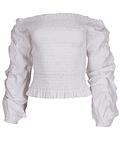 Bluza franzida com ombros descobertos - SAHOCO
