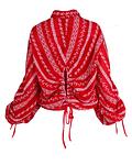 Blusa rendada com detalhe nas costas - SAHOCO