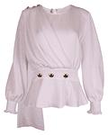 Blusa cruzada com botões - SAHOCO