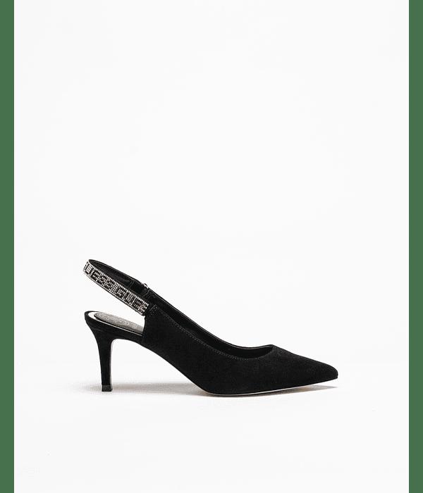 Sapato Aberto Atrás com Strass - Guess
