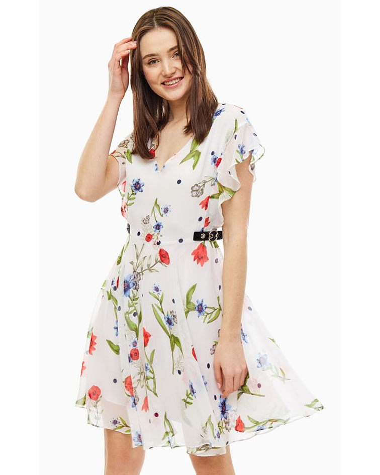 Vestido com estampa floral - Guess