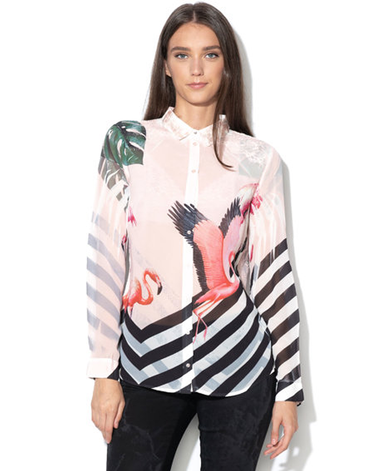 Camiseiro Clouis flamingos - Guess