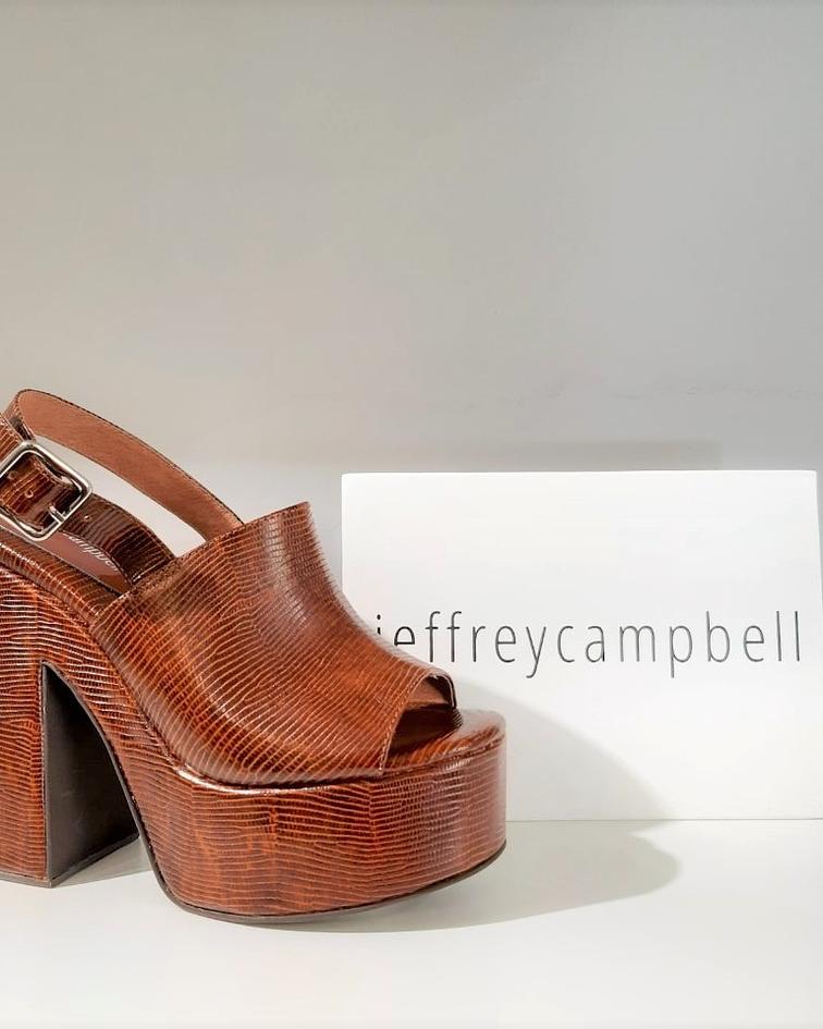 Sandália Salto Largo Mattix - Jeffrey Campbell