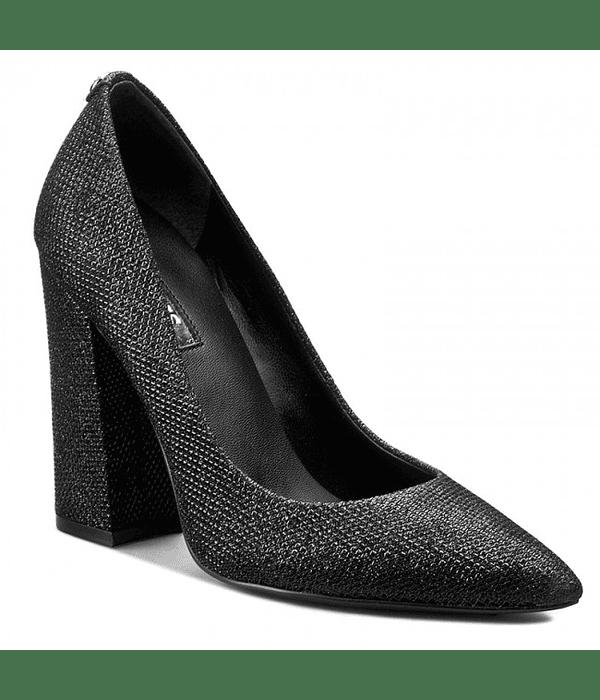 Sapato Salto Largo Glitter- Guess