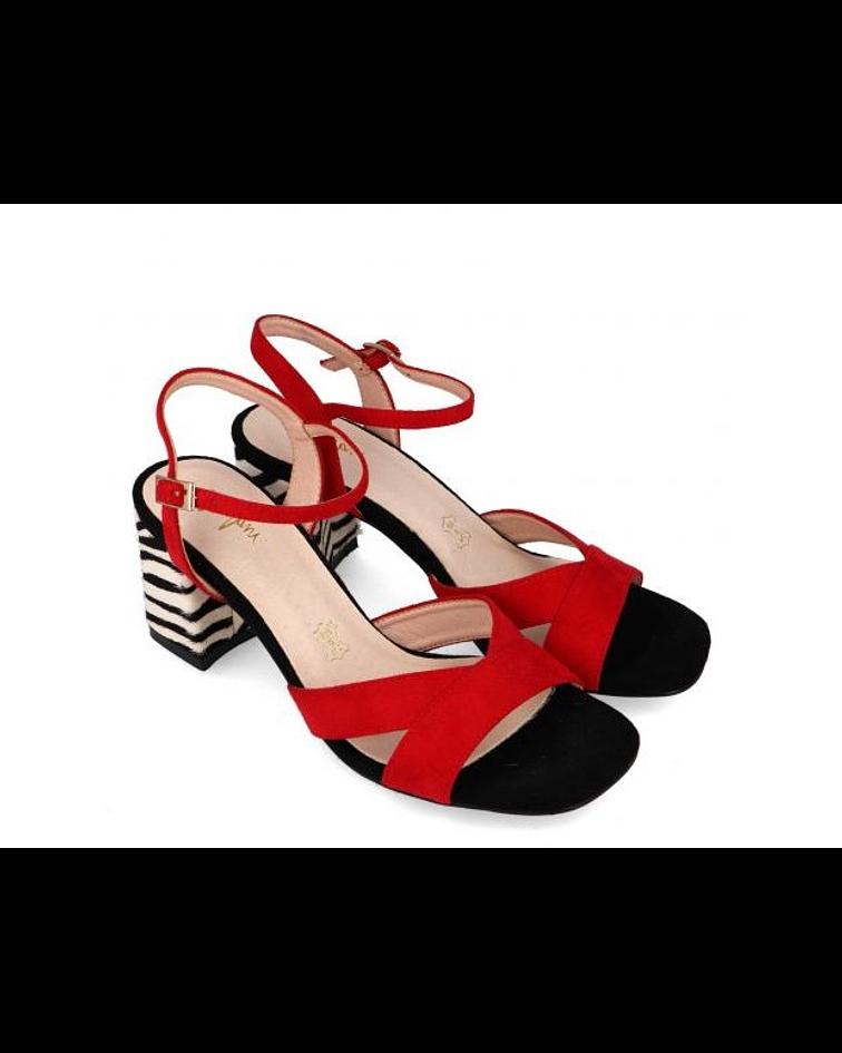 Sandália salto médio - Menbur