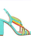 Sandália com brilhantes - Menbur