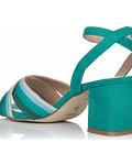 Sandália salto quadrado degradê - Menbur