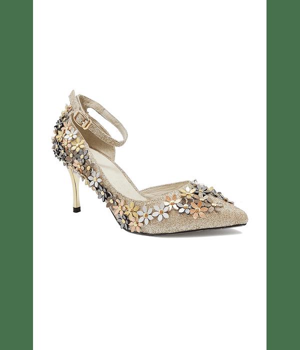 Sapato com Flores - SAHOCO