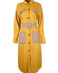 Vestido Camiseiro com Bolsos Patch - SAHOCO