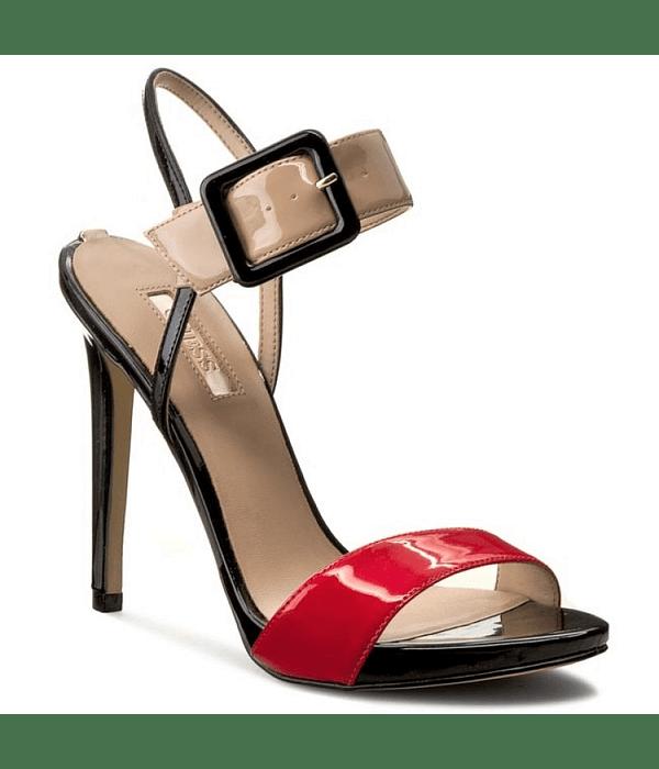 Sandália de Salto com Fivela - Guess