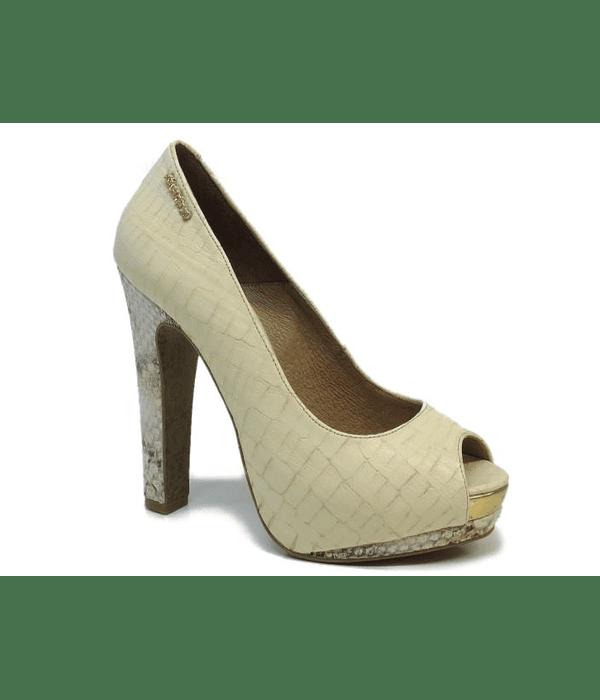 Sapato Croco Compensado - SAHOCO