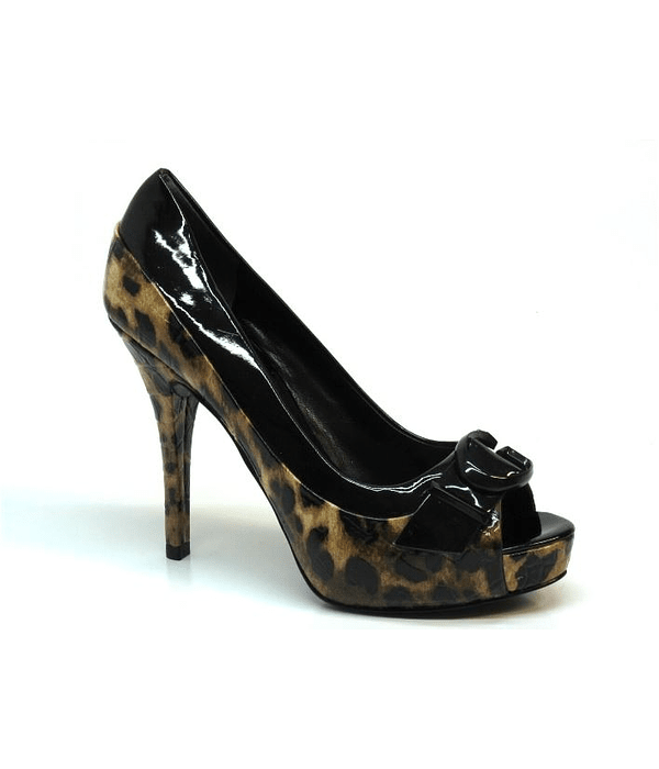 Sapato Compensado Animal Print - Guess