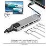 USB-C a Ethernet, USB 3.0 y Tipo C