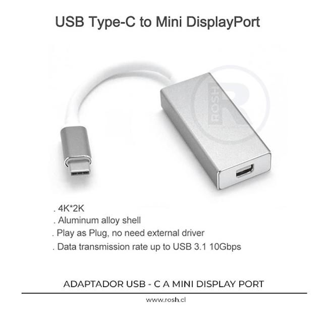 USB-C a Mini Display Port Hembra