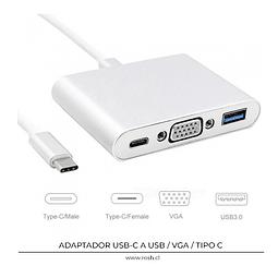 USB-C a VGA y USB 3.0