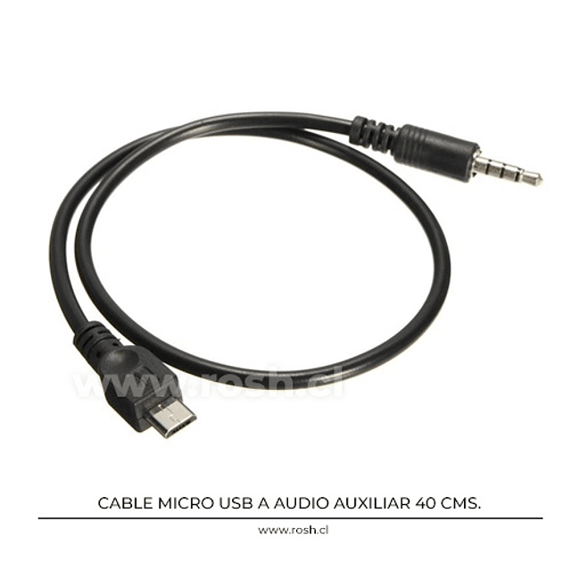 Cable Micro Usb Audio 3.5 mm