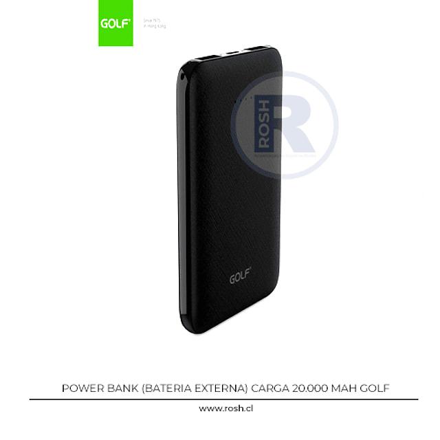 Bateria Externa 20.000 mAh 2 Puertos USB
