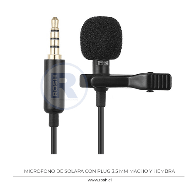 Microfono de Solapa Plug 3.5 mm