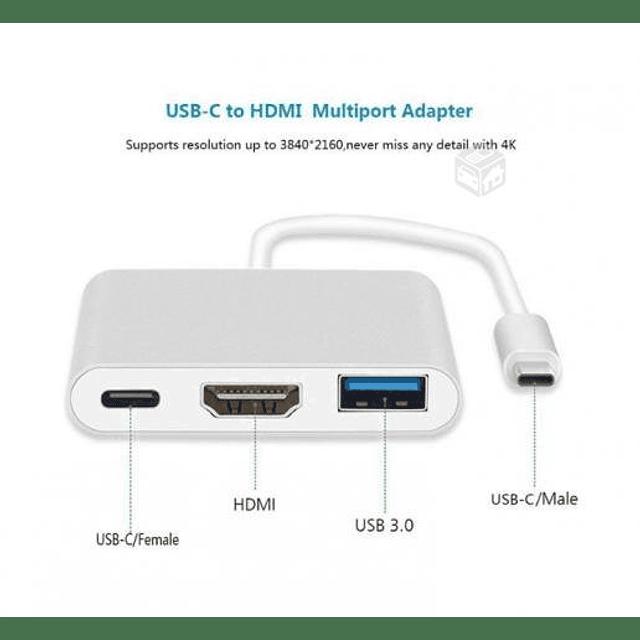 Adaptador USB-C 3 en 1