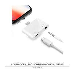 Audio 3.5 mm y Carga USB Lightning