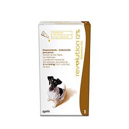 Pipeta Revolution Perros 12%, 5.1 a 10 Kgs
