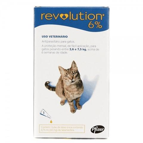 Revolution gatos 6% (2,6 a 7,5 k)